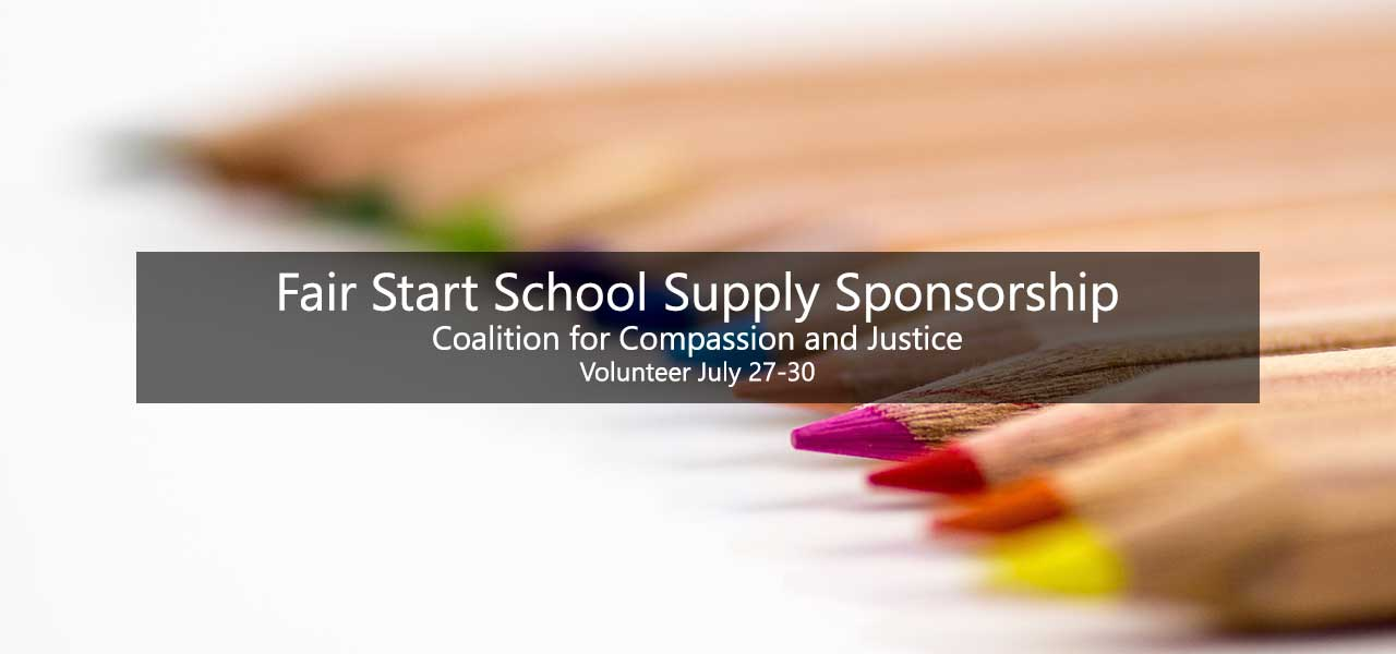 Fair Start School Supply Sponsorship Volunteer July 27-30