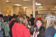Eighth grade students on a Verde Valley campus tour, in a science class.