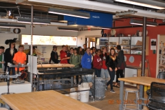 Eighth grade students on a Verde Valley campus tour, in a art class.